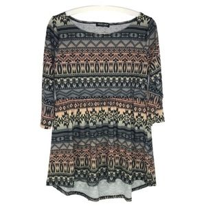 About a Girl Aztec Boho Top
